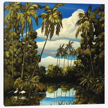 Tropical Lagoon Canvas Print #DEC109} by Debbie Criswell Canvas Artwork