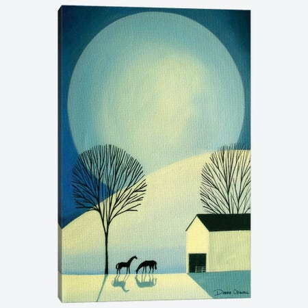 Under The Moonlight Canvas Print #DEC114} by Debbie Criswell Canvas Wall Art