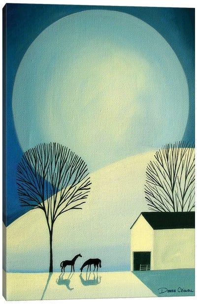 Under The Moonlight Canvas Art Print