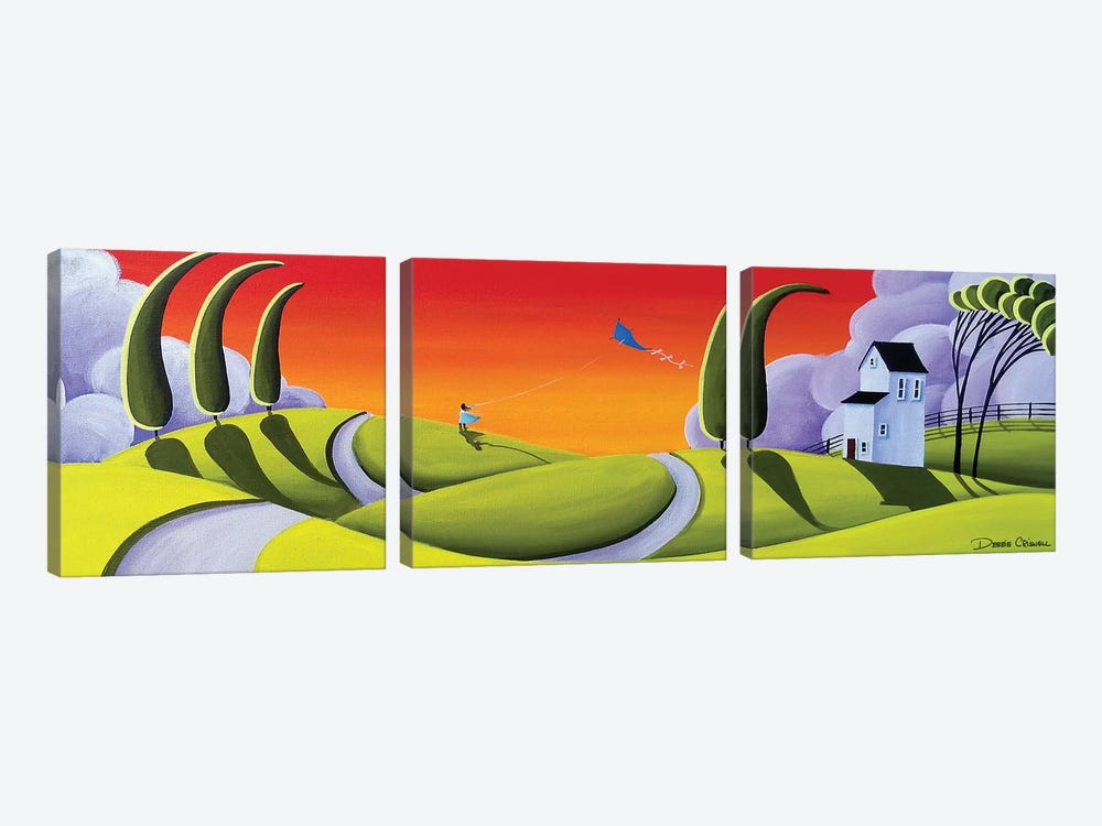 Whirly Winds by Debbie Criswell 3-piece Canvas Wall Art