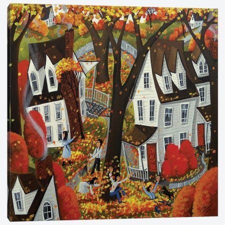 Autumn Day Fun Canvas Print #DEC123} by Debbie Criswell Canvas Wall Art