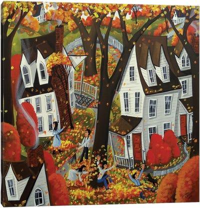 Autumn Day Fun Canvas Art Print