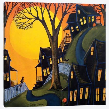 Black Cats Prowl Canvas Print #DEC125} by Debbie Criswell Canvas Art Print
