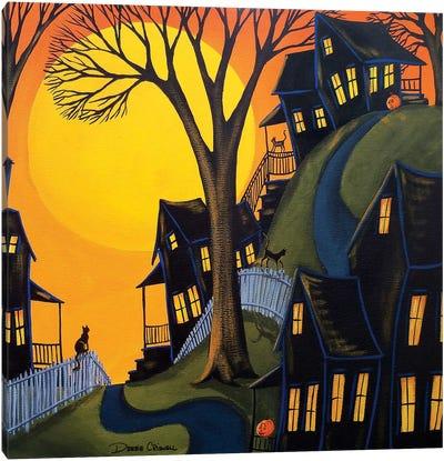 Black Cats Prowl Canvas Art Print