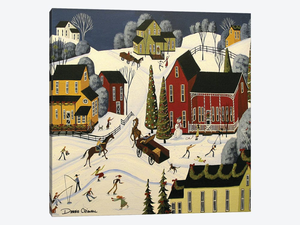 Christmas Cheer by Debbie Criswell 1-piece Canvas Print