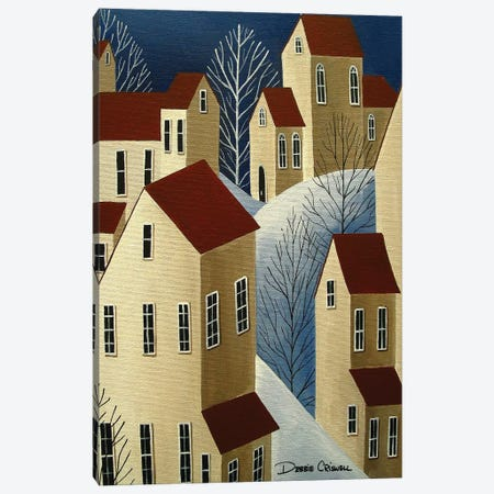 Climbing Houses Canvas Print #DEC131} by Debbie Criswell Canvas Print