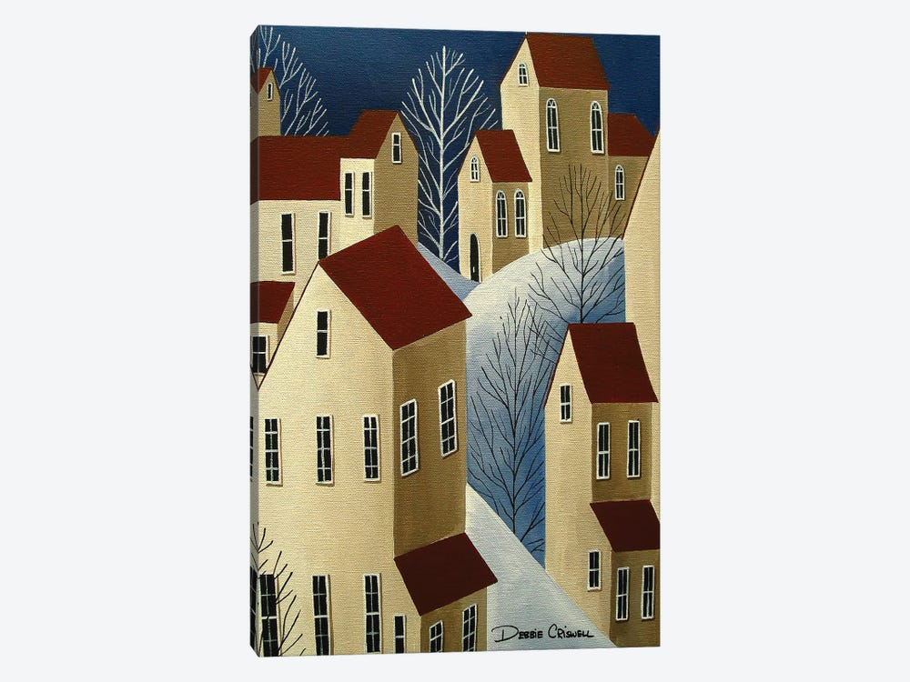 Climbing Houses by Debbie Criswell 1-piece Canvas Wall Art