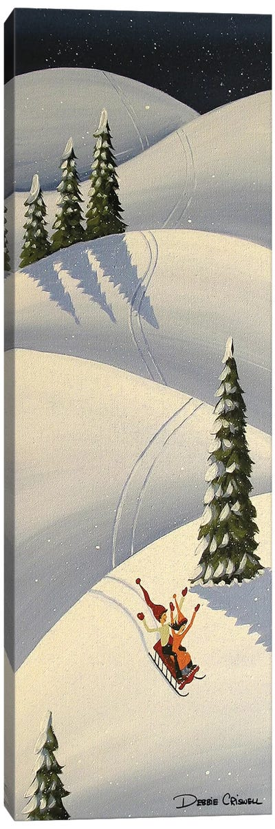 Downhill Fun Canvas Art Print