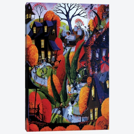 Halloween Night Canvas Print #DEC143} by Debbie Criswell Canvas Artwork