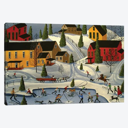 Ice Fishin Canvas Print #DEC145} by Debbie Criswell Canvas Print