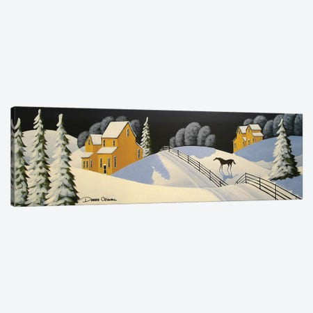 Lovely Country Winter Canvas Print #DEC148} by Debbie Criswell Canvas Artwork