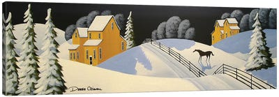 Lovely Country Winter Canvas Art Print