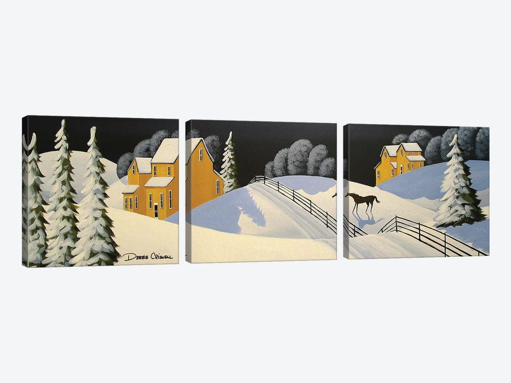 Lovely Country Winter by Debbie Criswell 3-piece Canvas Wall Art