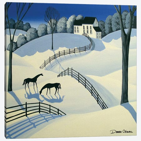 Oh Oh Winter Time Canvas Print #DEC150} by Debbie Criswell Art Print