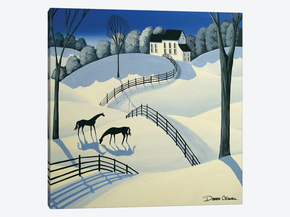 Oh Oh Winter Time by Debbie Criswell 1-piece Canvas Print
