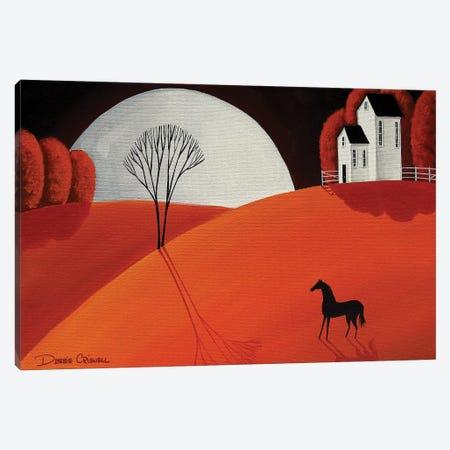 Pretty Pony Canvas Print #DEC153} by Debbie Criswell Art Print