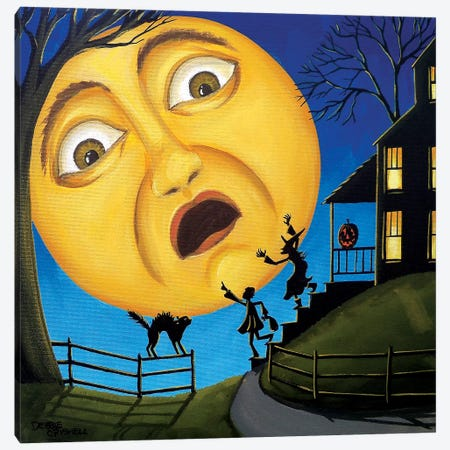 Scare The Moon Canvas Print #DEC158} by Debbie Criswell Art Print
