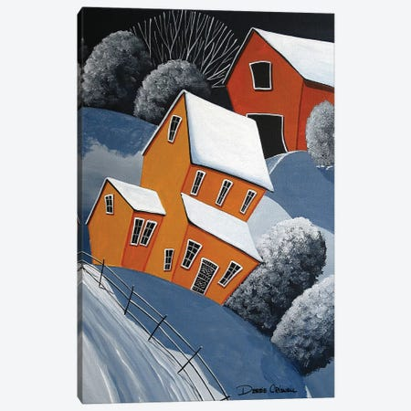 Snow Drift Canvas Print #DEC165} by Debbie Criswell Canvas Art Print