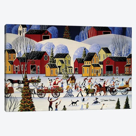 The Christmas Parade 3-Piece Canvas #DEC171} by Debbie Criswell Canvas Print