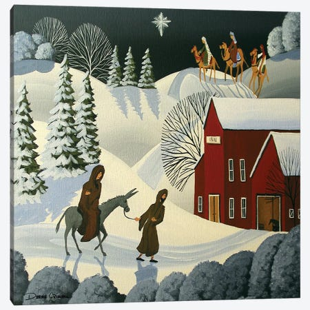 The First Christmas Canvas Print #DEC172} by Debbie Criswell Art Print