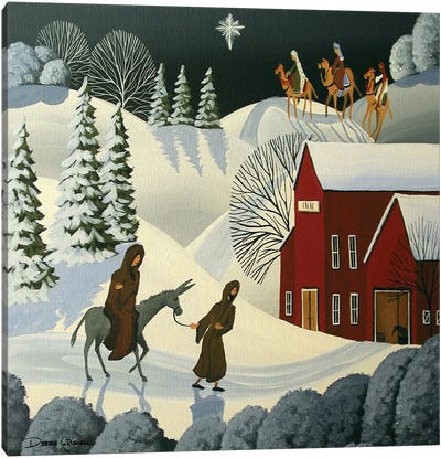 The First Christmas Canvas Art Print