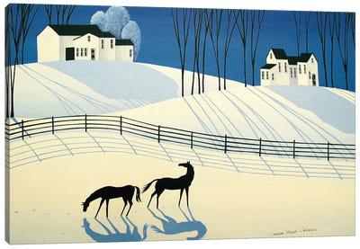 The Longest Shadows Of Winter Canvas Art Print