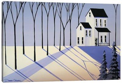The Periwinkle Farm Canvas Art Print
