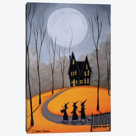 Three Little Witches Canvas Print #DEC176} by Debbie Criswell Canvas Artwork