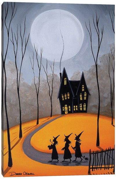 Three Little Witches Canvas Art Print