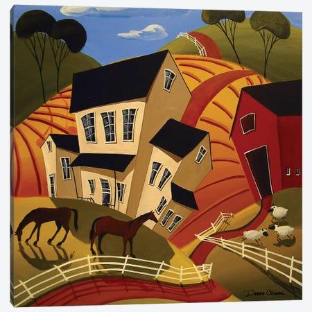 Wacky Farm Canvas Print #DEC178} by Debbie Criswell Canvas Art Print
