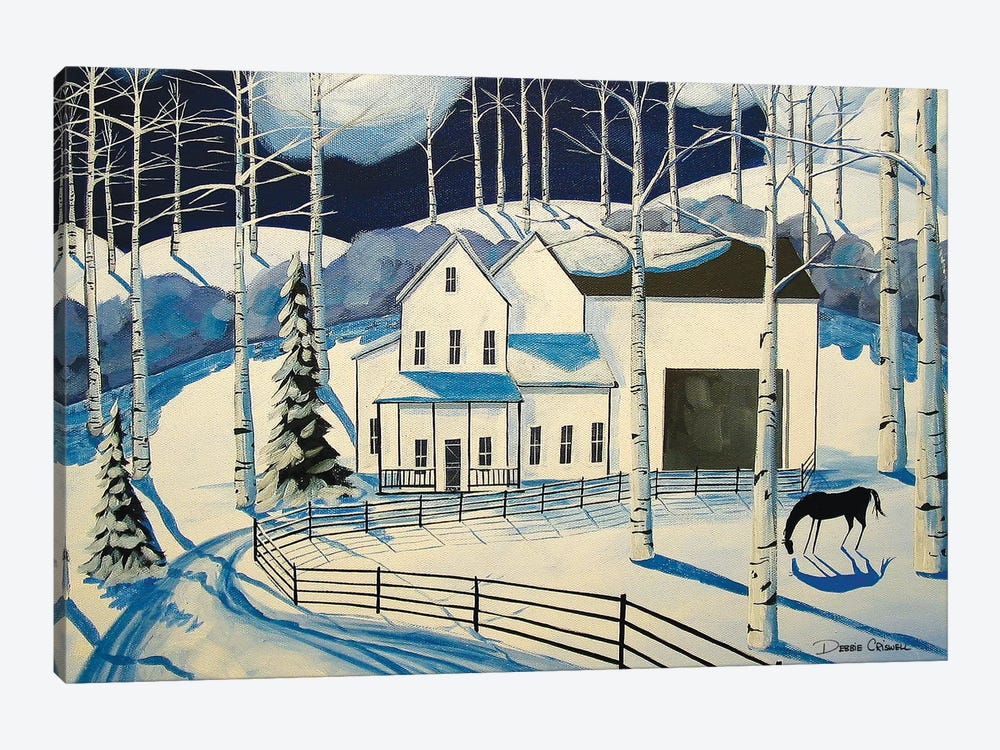 Winter Farm by Debbie Criswell 1-piece Canvas Wall Art