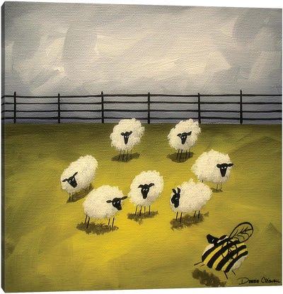Bumble Sheep Canvas Art Print
