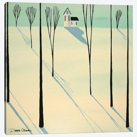 Winter Walk Through The Woods Canvas Print #DEC181} by Debbie Criswell Canvas Artwork