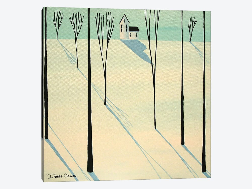 Winter Walk Through The Woods 1-piece Canvas Print