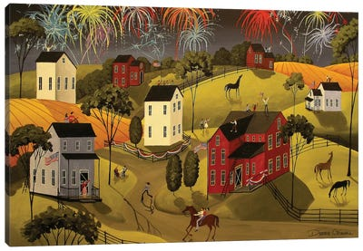 Celebration On The 4th Of July Canvas Art Print