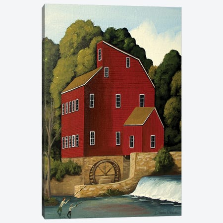 Clinton Mill Canvas Print #DEC21} by Debbie Criswell Canvas Wall Art