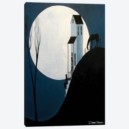 Confiding In The Moon Canvas Print #DEC22} by Debbie Criswell Canvas Wall Art