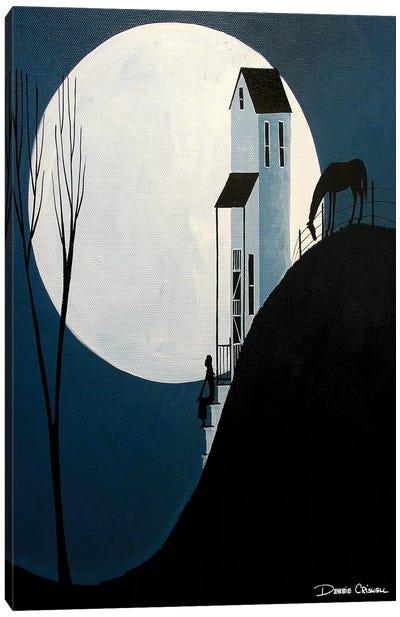 Confiding In The Moon Canvas Art Print