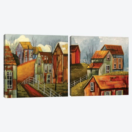 Country Color Diptych Canvas Print Set #DEC2HSET001} by Debbie Criswell Canvas Wall Art