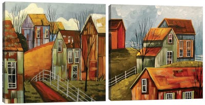 Country Color Diptych Canvas Art Print