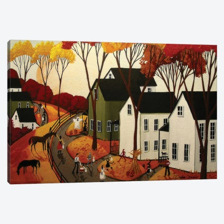 Early Halloween Canvas Print #DEC35} by Debbie Criswell Canvas Artwork