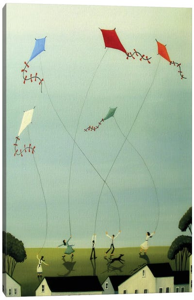 Five Kites Flying Canvas Art Print