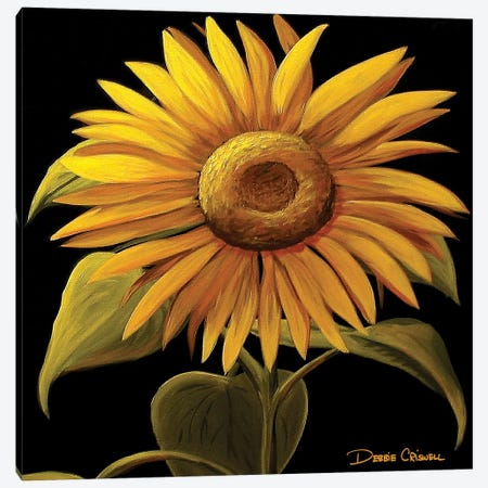 Giant Sunflower Canvas Print #DEC41} by Debbie Criswell Canvas Art