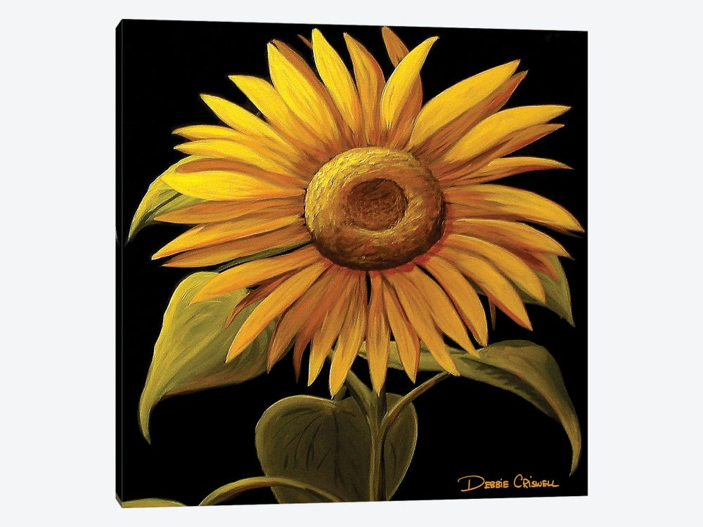 Giant Sunflower by Debbie Criswell 1-piece Canvas Art