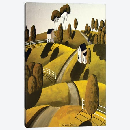 Modern Hill Canvas Print #DEC66} by Debbie Criswell Art Print