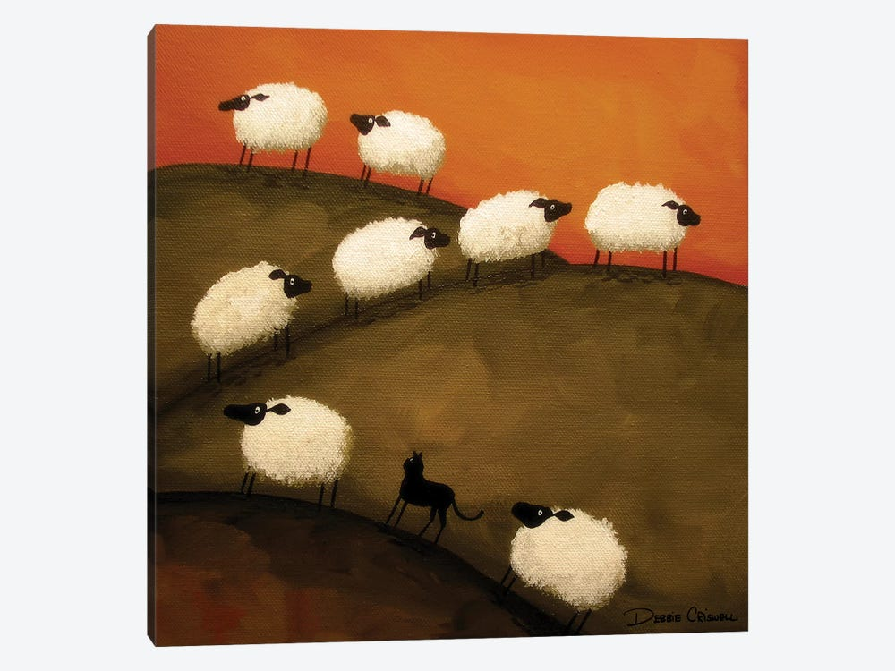 Part Of the Crowd by Debbie Criswell 1-piece Canvas Art