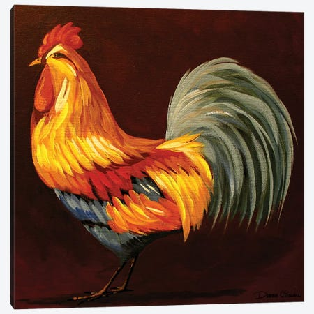 Pretty Rooster Canvas Print #DEC76} by Debbie Criswell Canvas Artwork