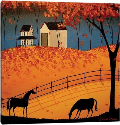 Shadows Of Autumn Canvas Art Print