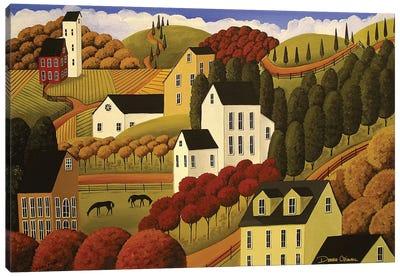 Small Farms Canvas Art Print