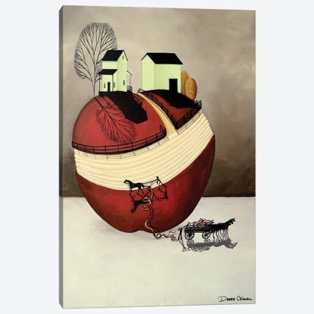 Apple Harvest Farm Canvas Print #DEC8} by Debbie Criswell Canvas Art